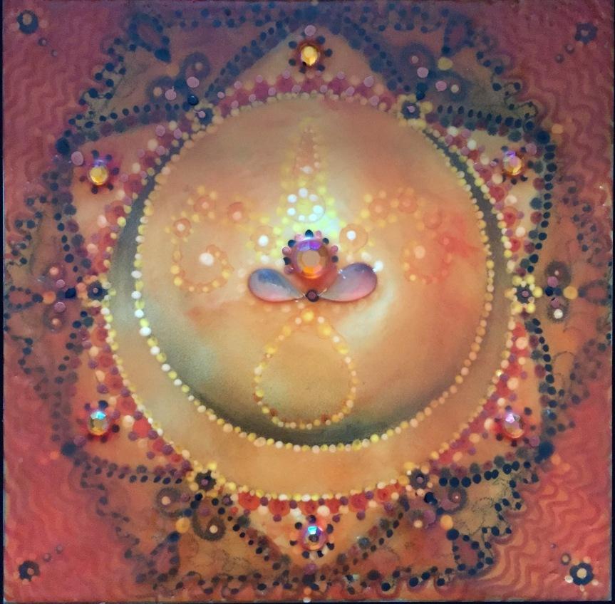 mandala-encaustic-art-Siobhan Bedford