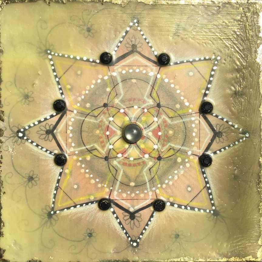 Mandala, encaustic by Siobhan Bedford