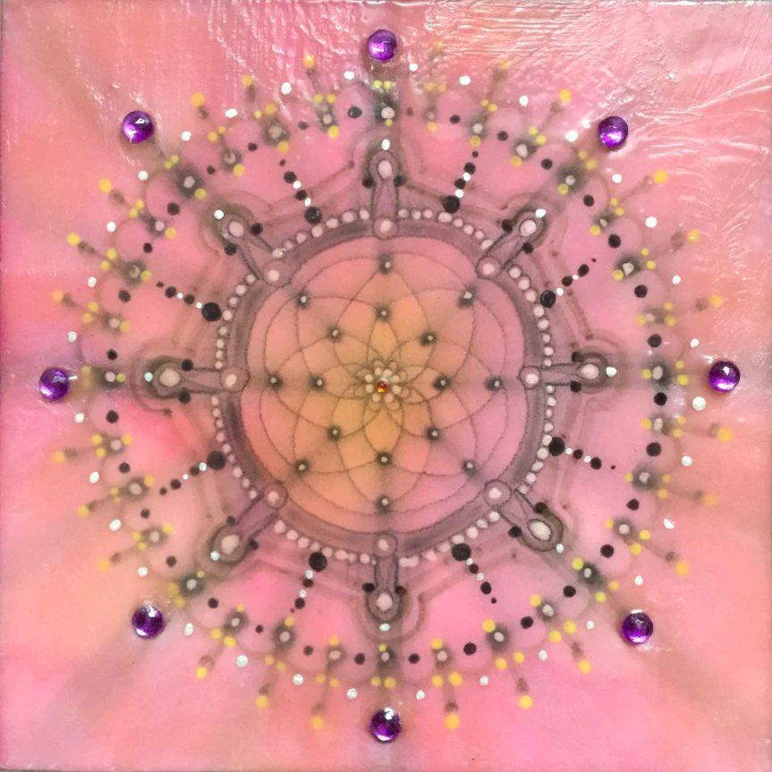 Encaustic Mandala by Siobhan Bedford
