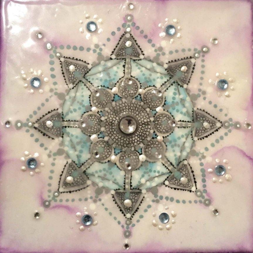 Encaustic Mandala Mala by Siobhan Bedford